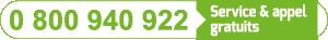 Numéro vert mini champs solaire